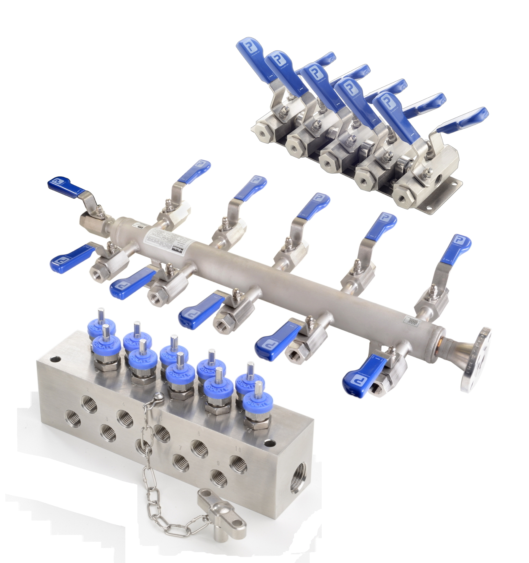 High Pressure Manifold : Modular distribution manifolds are configurable for