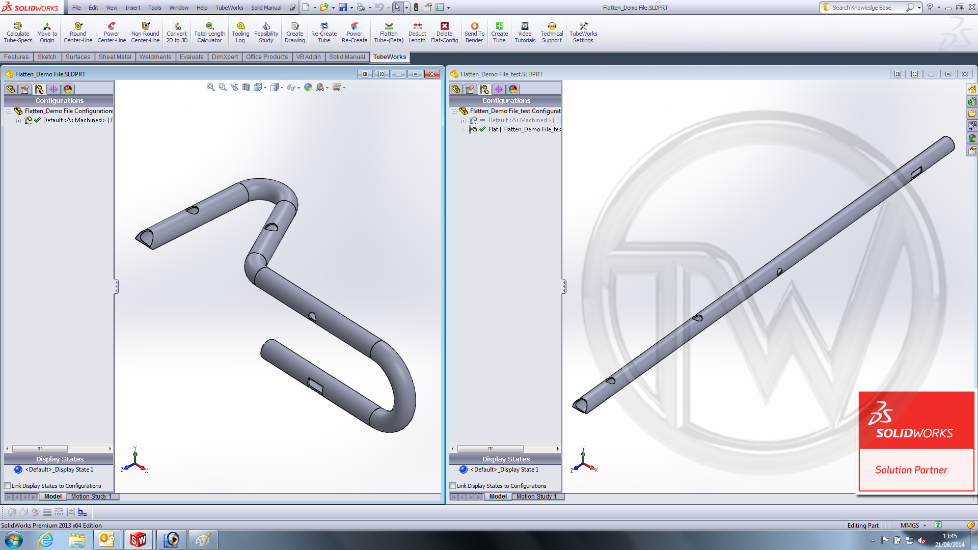 Tube Bending Cad Cam Software Also Accommodates Laser Tube
